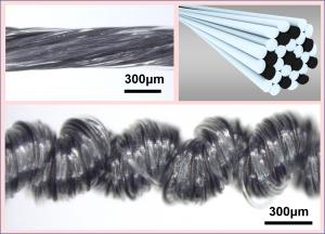 マルチフィラメント型カーボンナノチューブ/高分子ソフトアクチュエータ (soft-actuator of carbon nanotube yarn and polymer threads)